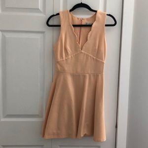 Short peach jersey material dress